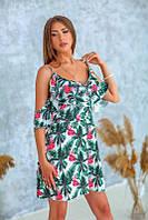 Жіноче літнє плаття з відкритими плечима, фото 1