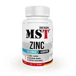 Цинк MST Zinc + Selenium + Copper 100 капсул