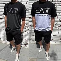 Летний мужской повседневный костюм футболка +шорты