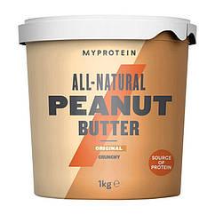 Натуральная арахисовая паста MyProtein Peanut Butter 1000 грамм Crunchy