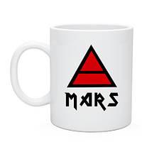 Кружка 30 seconds to mars знак триада