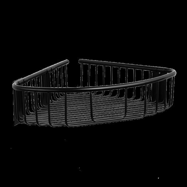 Кутова поличка для ванної та душової SLZD 26N, Sanela (Чехія), нержавіюча сталь з чорним покриттям