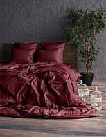 Комплект постельного белья Сатин Stripe BORDO 1/1см (Полуторный)
