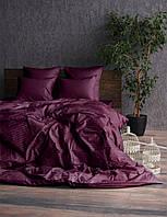 Комплект постельного белья Сатин Stripe PLUM 1/1см (Полуторный)