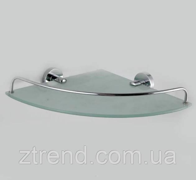 Угловая полочка с матовым стеклом стеклом 25*25см Aquael KF-035