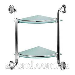 Полка двойная с матовым стеклом