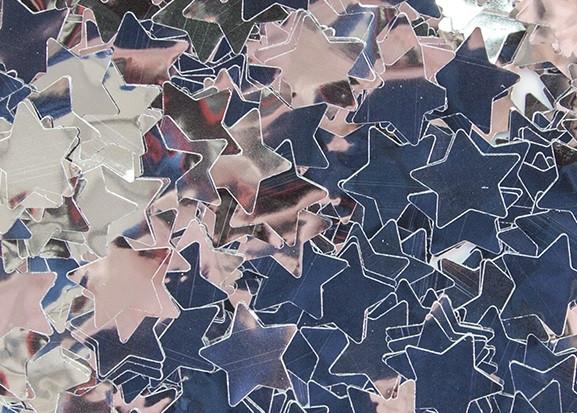 Конфетті маленькі Зірки Срібло 100 г 12мм