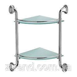 Полка двойная с прозрачным стеклом
