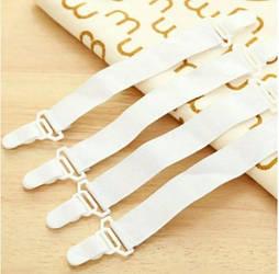 Резинки для фиксации простыней. 4шт/уп Arivans 21х2.5 см белый