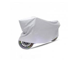 Моточохол водонепроницаемый Motocicleta Cubierta XL 140х240 см серебристый