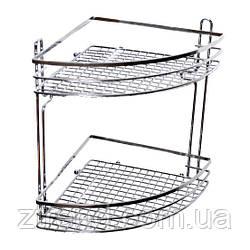 Полка угловая для ванной 2-ярусная 28*20*20 см (A0163)