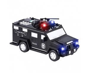 Электронная копилка-сейф машинка с кодовым замком и отпечатком пальца Cash Truck Black