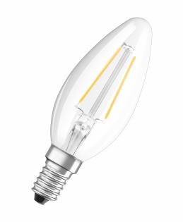 Лампа светодиодная OSRAM RFCLB37 4W/827 230V  FIL  E14 430lm свеча филаментная