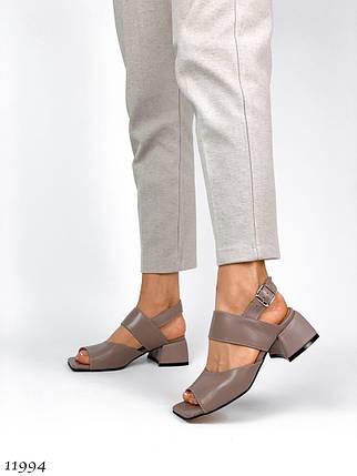 Літні босоніжки жіночі на низькому каблуці 11994 (ЯМ), фото 2