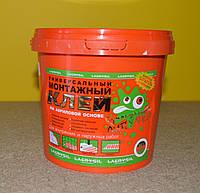 Универсальный монтажный клей на акриловой основе Сумасшедшая липучка Lacrysil (3 кг) для декоративных фризов