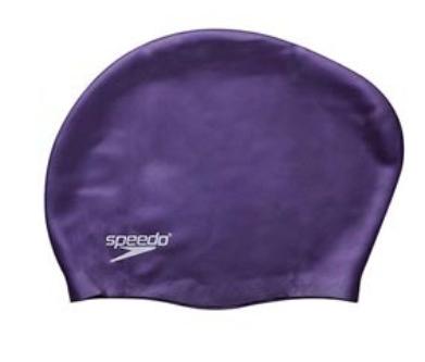 Силіконова шапочка для плавання для довгого волосся Speedo фіолетова