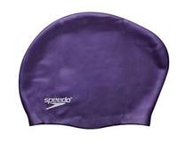 Силиконовая шапочка для плавания для длинных волос Speedo фиолетовая