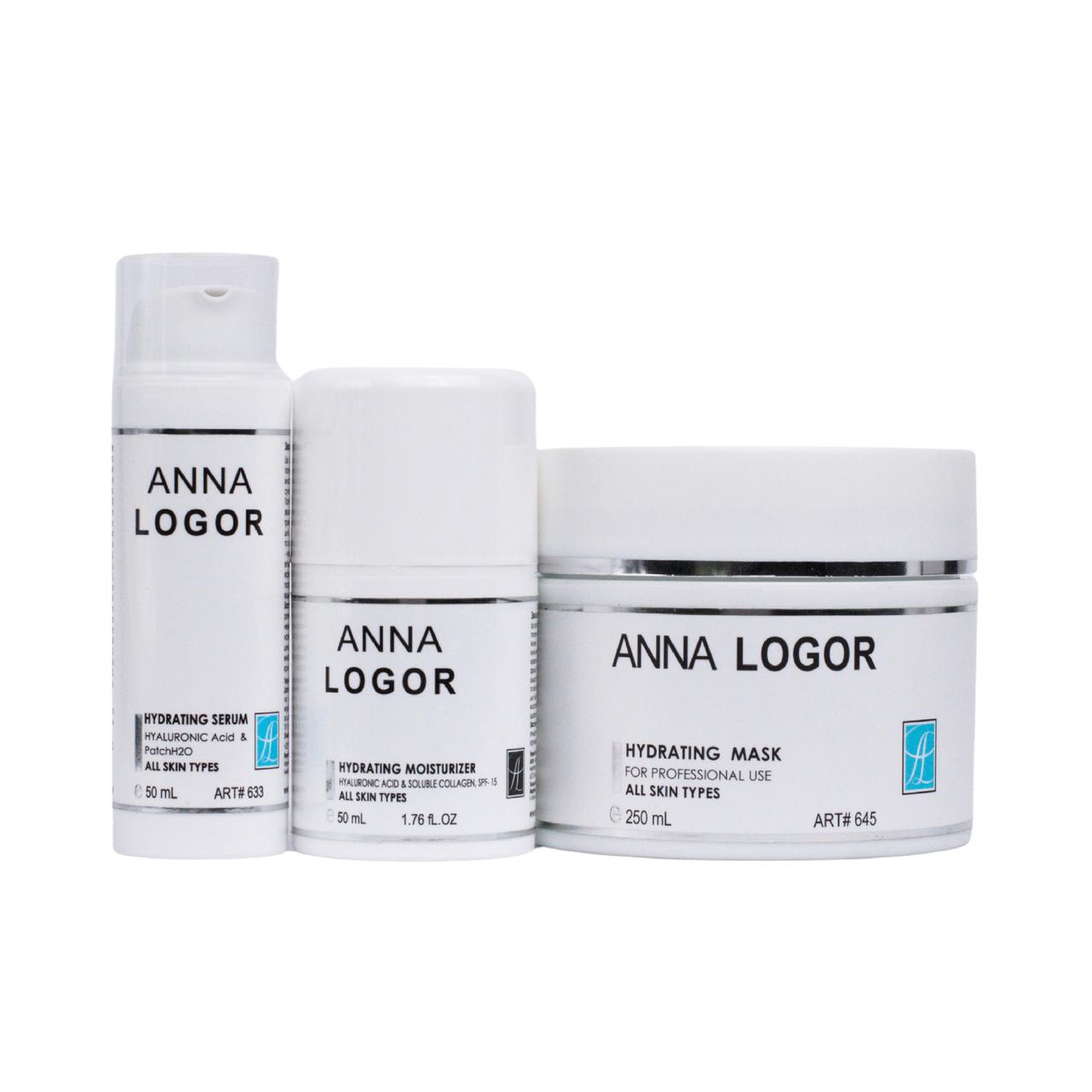 Набор косметики Anna LOGOR Deep Moisturizing Complex для Глубокого увлажнения кожи лица