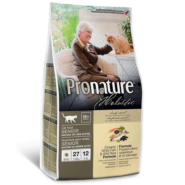 Pronature Holistic (Пронатюр Холистик) с океанической белой рыбой и диким рисом сухой холистик корм для котов