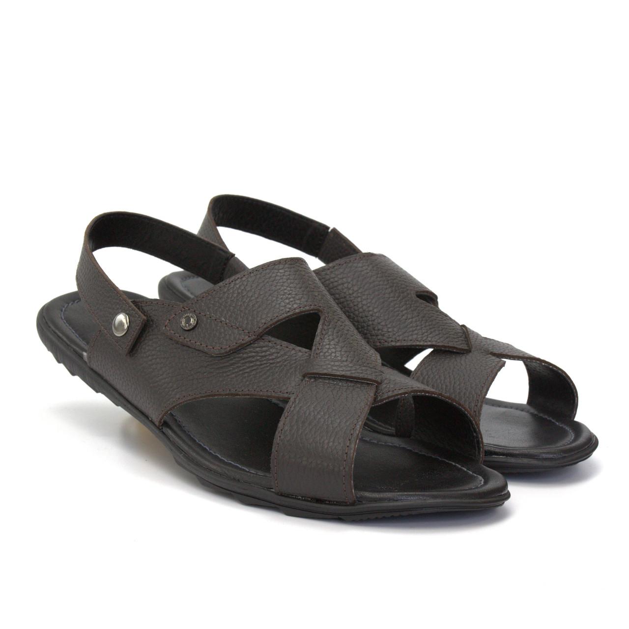 Сандалии трансформеры босоножки кожаные коричневые мужская обувь больших размеров Rosso Avangard BS Sandals Bertal Floto