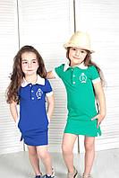 Дитяче трикотажне плаття-поло для дівчинки р. 110-134