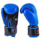 Боксерські рукавички шкіряні сині 12oz Top Ten SKL11-281314, фото 2