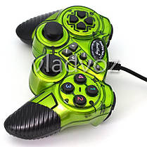 Игровой джойстик геймпад USB X-senze 988 для ПК зелёный, фото 2