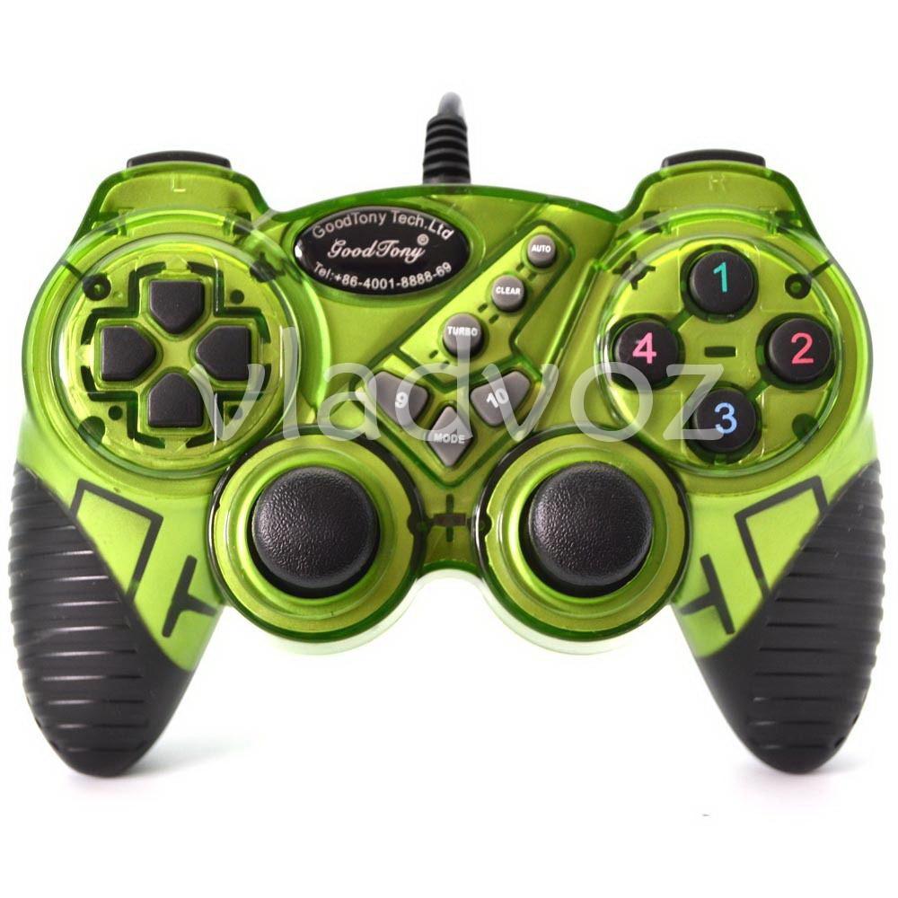 джойстик для пк геймпад 998 зелёный