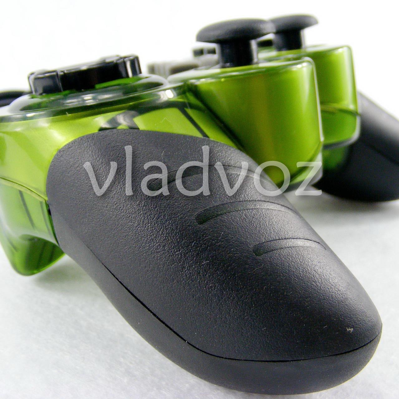 джойстик для пк геймпад 998 зелёный вид сбоку