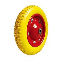 Колесо для тачки пенополиуретановое  с шариковым подшипником 62-340х65-B,340 мм (3.25-8/3.00-8)