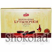 Конфеты в коробке Шоколадные бутылочки с ликером 168 г