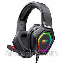 Наушники игровые с микрофоном и подсветкой HAVIT HV-H659D GAMING, black