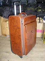 Чемодан Yadisinuo коричневый на колесах  (средний)