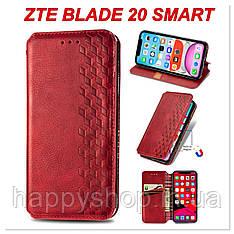 Чохол-книжка GETMAN Cubic для ZTE Blade 20 Smart (Червоний)