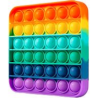 Игрушка антистресс Pop it для детей разноцветная  Квадрат FL304