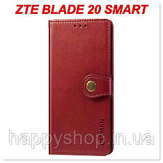 Чохол-книжка GETMAN Gallant для ZTE Blade 20 Smart (Червоний)