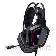 Наушники игровые с микрофоном и подсветкой HAVIT HV-H656D GAMING, black