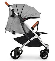 Легкая прогулочная коляска дождевик сетка чехол на ножки подстаканник наклон 165° M 3910 IRON GRAY Серая