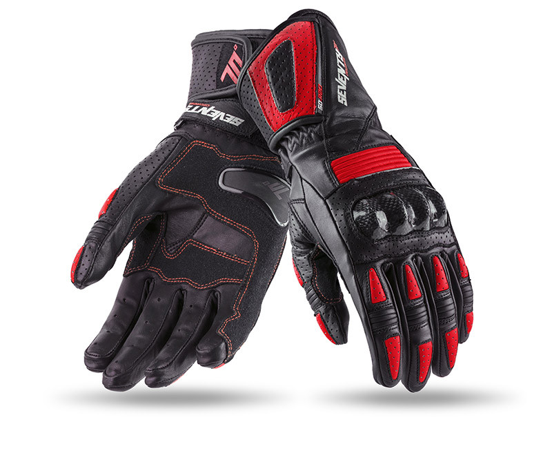 Мотоперчатки SEVENTY R20 WOMAN BLACK/RED S
