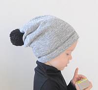 Теплые осенние шапочки с балабонами. ОГ 50-52, 52-54, 54-56 см, фото 1