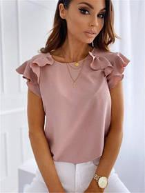 Блузка женская летняя рукава-воланы Teresa