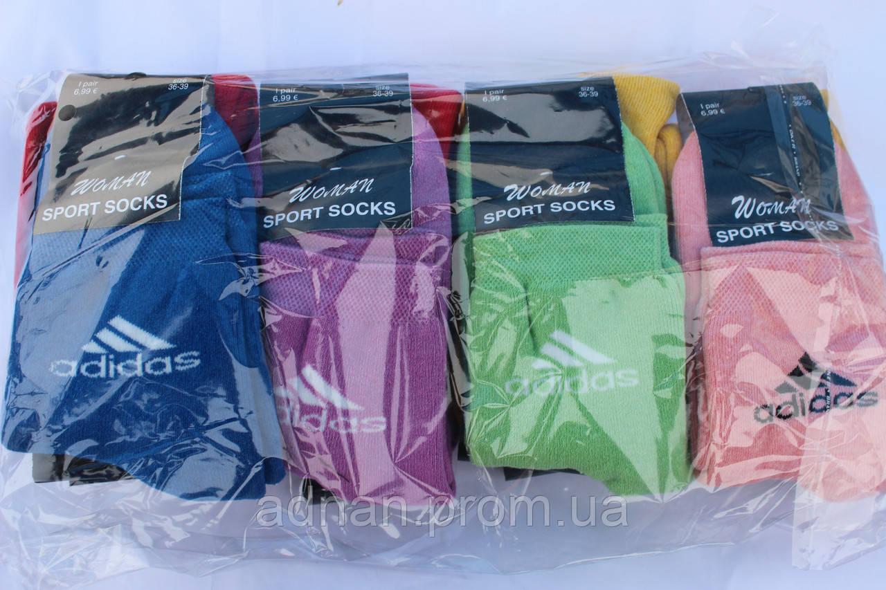 Носки женские ADIDAS, размер 36-39 / купить женские носки оптом оптом
