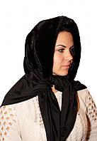 Меховая норковая косынка черного и коричневого цвета