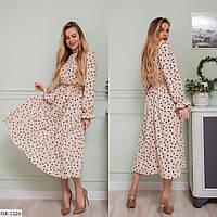 Платье женское за колено миди юбка клеш трапеция с резинкой на талии  р-ры 42-48 арт.  0331