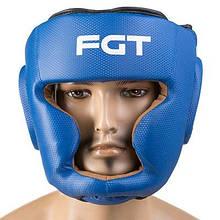 Боксерський шолом захисний для боксу World Sport закритий Fgt Flex S синій M11-280828
