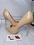 Туфлі жіночі класичні бежеві, фото 6