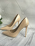 Туфлі жіночі класичні бежеві, фото 5