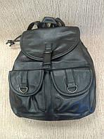 Рюкзак из кожзам черный повседневный из Турции