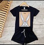 Стильний костюм жіночий з футболкою і шортами, фото 2