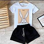 Стильний костюм жіночий з футболкою і шортами, фото 4